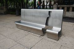 Steel bench, Mexico City
