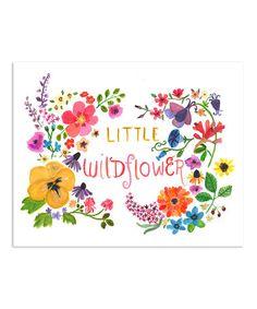 Love this 'Little Wildflower' Print by trafalgar's square on #zulily! #zulilyfinds