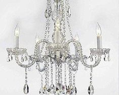 Shop for Swarovski Crystal Trimmed Authentic Plug In Chandelier Lighting. Get free delivery On EVERYTHING* Overstock - Your Online Ceiling Lighting Store! Get in rewards with Club O! Plug In Chandelier, Crystal Chandelier Lighting, Empire Chandelier, Globe Chandelier, Chandelier Shades, Crystal Lights, Chandelier Ideas, Pendant Lights, Gallery Lighting