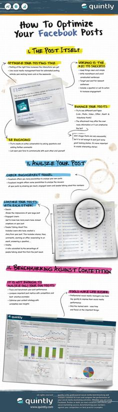 How To Optimize Your #Facebook Posts #Infographic