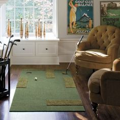Golf Green - FLOR Carpet Tiles - Thinking I could win wife of the year if I found a way to put this in our house.
