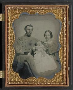 Civil War soldier his wife and baby.