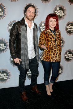 Hayley Williams and Jeremy Davis of Paramore: 2008 mtvU Woodie Awards - Arrivals