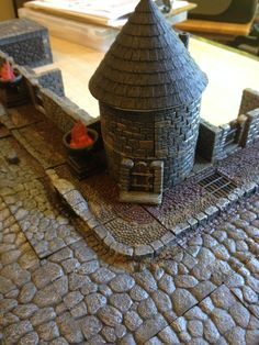 Our first town in a new Savage Worlds RPG with the help of DwarvenForge tiles. Rpg Board Games, Savage Worlds, The Help, Tiles, Room Tiles, Tile, Backsplash
