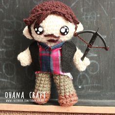 Daryl Dixon from The Walking Dead inspired crochet doll www.facebook.com/OhanaCraft