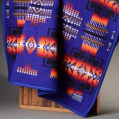 Sapphire Pendleton Blanket- Chief Joseph Collection. 32x44
