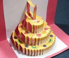 Birthday Cake Pop Up Card (Happy Birthday Kirigami) | Free Template!