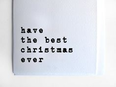 Typography Christmas Card: Simple minimalistic and by Alfamarama
