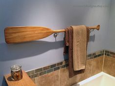 Check out 41 Stained Paddle in Stains of Brown / Gray / Blue / Nautical Nursery Decor / Beach / Cabin / Lake Decor / Canoe Paddle / Oar / Oars on seaweeddesigns Diy Bathroom, Nautical Bathrooms, Beach Bathrooms, Small Bathroom, Lake Bathroom, Bathroom Ideas, Bathroom Gray, Bathroom Mirrors, Bathroom Storage