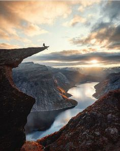 Trolltunga rock formation in Norway by Hercio Dias Places To Travel, Places To See, Travel Diys, Nature Photography, Travel Photography, Funny Photography, Landscape Photography, Norway Travel, Alaska Travel