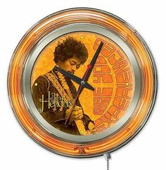 #Holland bar stool jimi #hendrix guitar double neon ring logo wall #clock,  View more on the LINK: 	http://www.zeppy.io/product/gb/2/391506151348/