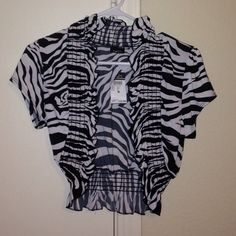 Zebra Print over the shoulder Cardigan Brand new, silky material , fun! Rue 21 Tops