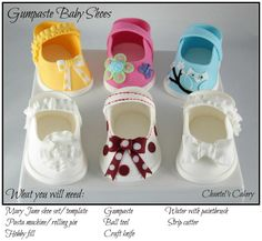 51 New Ideas Baby Shoes Pattern Fondant Cake Toppers Baby Shower Cakes, Gateau Baby Shower, Fondant Cake Toppers, Fondant Figures, Fondant Cakes, Cake Decorating Techniques, Cake Decorating Tutorials, Decorating Cakes, Fondant Baby Shoes