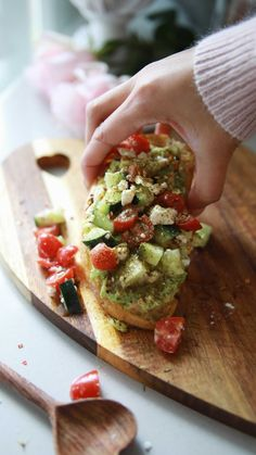 Greek Inspired Avocado Toast