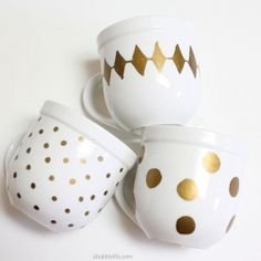 DIY Sharpie Art Mug, dishwasher safe & so easy! GREAT 4 kids to Doodle-their-art & then bake the coffee mug 4 Grandparents Christmas Gifts!  An Awesome Personal Gift 2 remember grandbabies 4 years to come!