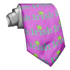 Shamrock Irish Custom Tie