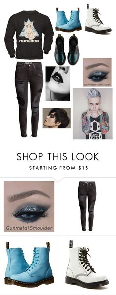 """CrankThatFrank"" by aesthetically-cynical ❤ liked on Polyvore featuring beauty and Dr. Martens"