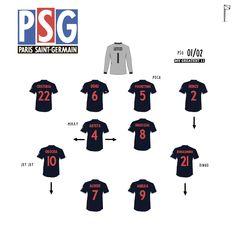 Best Football Players, Football Art, Nike Football, Football Tactics, Team Builders, Retro Football Shirts, Great Team, Psg, Lineup