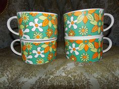 Awesome Retro Vintage Set of 4 Groovy by EnchantingArtistry, $25.95