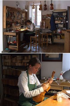 Workshop of a luthier in Cremona