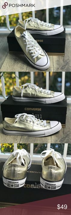 0ba21e61346d Shop Men s Converse Gold White size 11 Sneakers at a discounted price at  Poshmark. Price is firm!