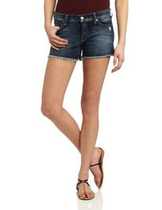 7 For All Mankind Women's Josefina Cut Off Short 4 Inch Inseam, Grinded Blue, 25 7 For All Mankind. $178.00