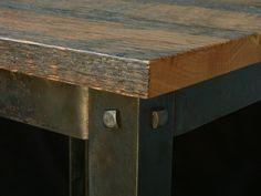 Custom Hand Crafted Rustic Barn wood End Table by Maynard Studios   CustomMade.com