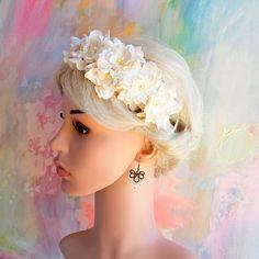 Stor gardenia-hårbøjle