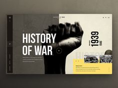 History of War designed by Bart Ebbekink for Unusual Pixels. Connect with them on Dribbble; the global community for designers and creative professionals. Website Design Inspiration, Website Design Layout, Web Layout, Graphic Design Inspiration, Ui Inspiration, Layout Design, Web Design Moderne, Modern Web Design, Web Ui Design