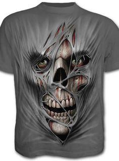 "Men's ""Stitched Up"" Tee by Spiral USA (Grey) | Inked Shop - www.inkedshop.com"