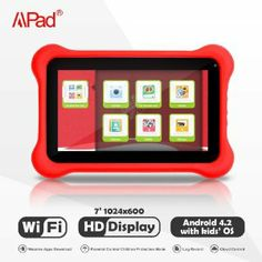 [Gift for Kids] Apad® 7-inch Dual-Core, Dual Camera Kids Tablet with Free Cloud Parental Control Service and Kids Apps