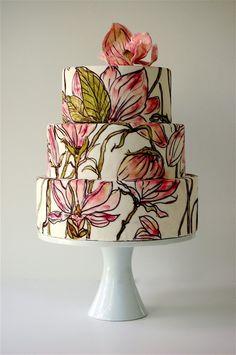 painted cake _ glitterweddings.com