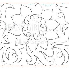 VELVET QUEEN | Machine Quilting Design | Digital | Beany Girl Quilts