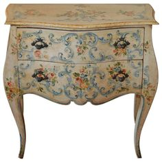Louis XV Style Hand Painted Commode | 1stdibs.com