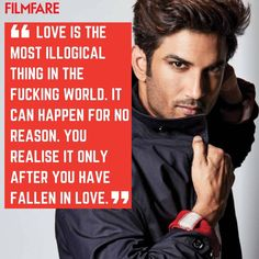 Sushant Singh Rajput's Quotes - Sushant Singh Rajput Whatsapp Status Quotes Sushi Quotes, Rajput Quotes, Whatsapp Status Quotes, Genius Quotes, Motivational Images, Sushant Singh, Bollywood Actors, Favorite Person, Falling In Love