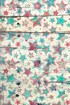 Grunge Stars on Shabby Chic White Painted Wood Art Print $16.00 - also available on iPhones iPods Samsung galaxy s4 cases, pillows, totes...