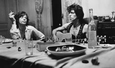 Mick Jagger and Keith Richards at Villa Nellcôte. Photo: Dominique Tarlé   While recording Exile on Main St