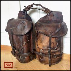 Antique Swiss Army Saddle Bags  Swiss Army by NaturaMachinata