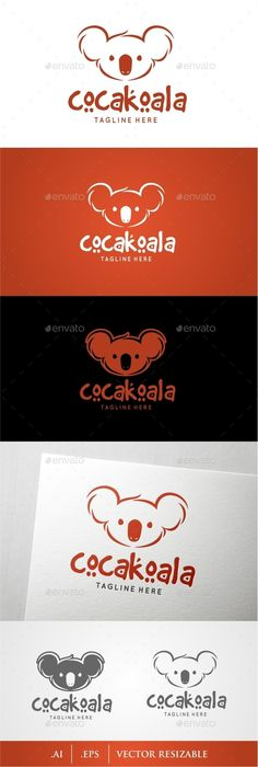 Koala Logo — Transparent PNG #green #vector • Available here → https://graphicriver.net/item/koala-logo/10066063?ref=pxcr