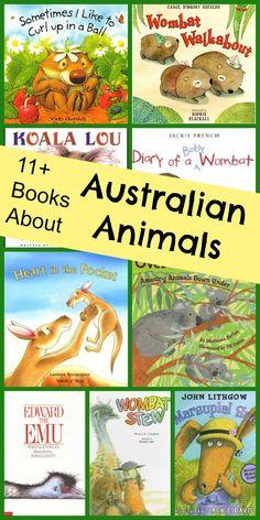 Pictures books for introducing kids to Australian animals. Australia Theme. #preschool