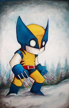 Um estilo único de desenhar Super Heróis