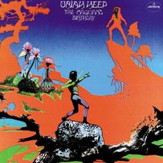 "Uriah Heep ""The Magicians Birthday"" Mercury Records SRM-1 652 12"" LP Vinyl Record, US Pressing (1972) Gatefold Album Cover Art & Design by Roger Dean"