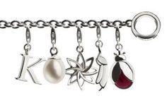 TORY & KO Silver Charm Bracelet with charms Silver Charm Bracelet, Silver Charms, Charmed, Personalized Items, Bracelets, Bangle Bracelets, Bracelet, Bangle, Silver Bangles