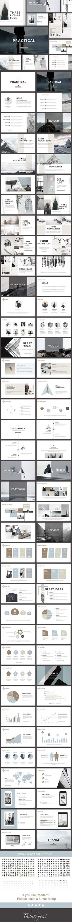 Practical - Clean PowerPoint Presentation Template. Download here: graphicriver.net/...