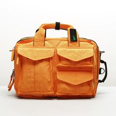 orange laptop bag from Mueslii Orange Laptop, Orange Backpacks, Laptop Bag, Backpack Bags, Tech Accessories, Shoulder Bag, Shoulder Straps, My Style, Convertible