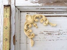 ARCHITECTURAL CARVED CORNERS (2) - FURNITURE APPLIQUES-WOOD & RESIN-FLEXIBLE