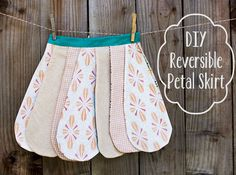 DIY Reversible Petal Skirt (Free Pattern) from Pretty Prudent Sewing Kids Clothes, Sewing For Kids, Baby Sewing, Diy Clothes, Clothes Refashion, Sewing Patterns Free, Sewing Tutorials, Clothing Patterns, Free Pattern