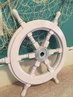 Ships Wheel 18 White wooden wheel Wood and by ParadiseDecor