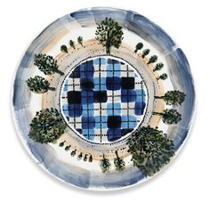 Maurice Christo van Meijel: Treinreis (2011) schildering op keramiek, 32 cm. (www.mauricechristo.com) Tags