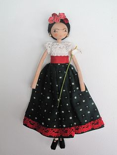 Frida Khalo doll by Sarah Strachan